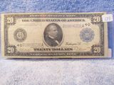 1914 $20. FEDERAL RESERVE NOTE XF+