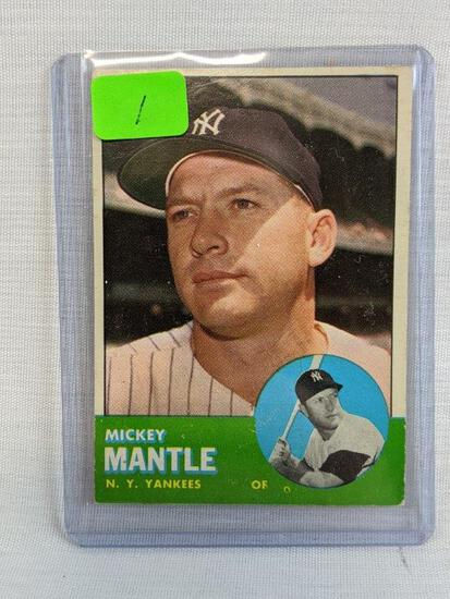 Mickey Mantle 1963 Topps card 200