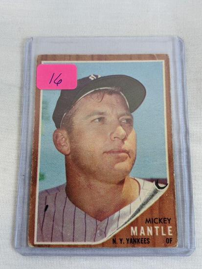 Mickey Mantle Topps 1962 card #200