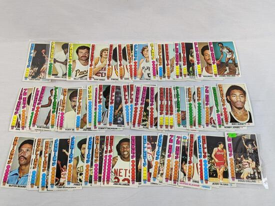 1976 -1977 Topps basketball cards 74 total, appears to be no doubles