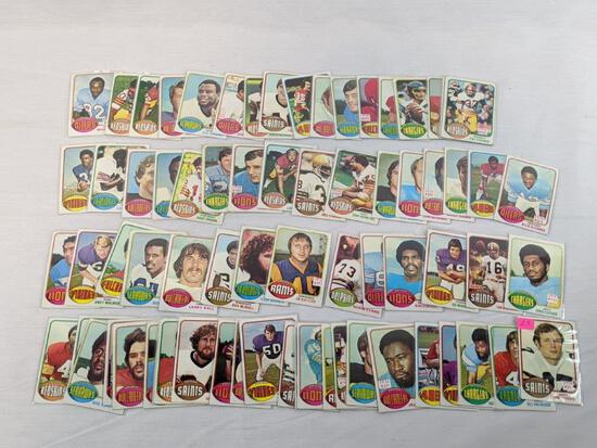 1976 Topps football, 72 card lot, no doubles, cards are in order