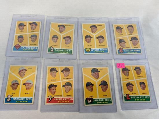 1960 Topps baseball lot of 8, card #s 456 through 463