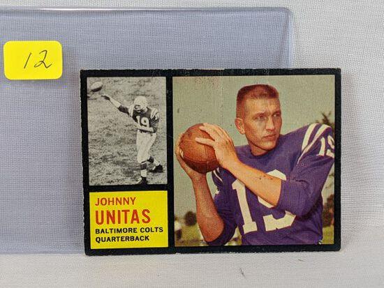 1962 Topps Johnny Unitas, slight crease,