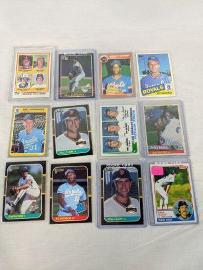 Rookie baseball card lot of 12: all stars