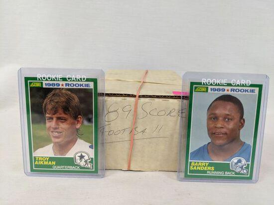 1989 Score football set - Sanders & Aikman Rookies