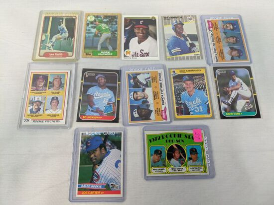 Rookie card lot of 12 baseball, including stars