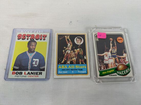 Vintage basketball lot of 3 including Rookies
