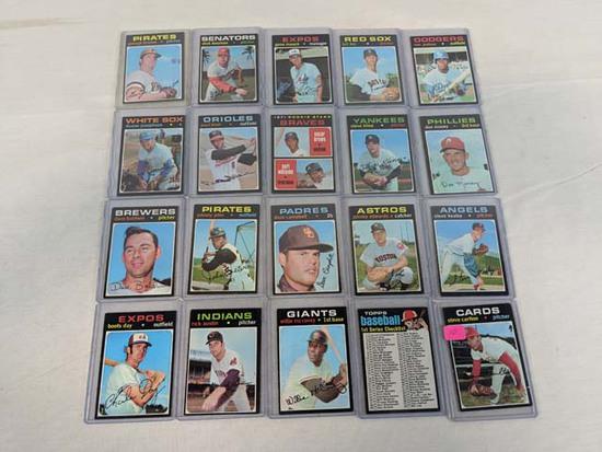 1971 Topps baseball lot of 20 w/Steve Carlton, Willie McCovey