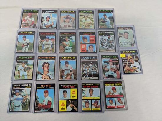 1971 Topps baseball lot of 20 w/Lemon & Mazeroski