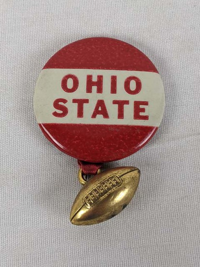 Ohio State pin with football attached