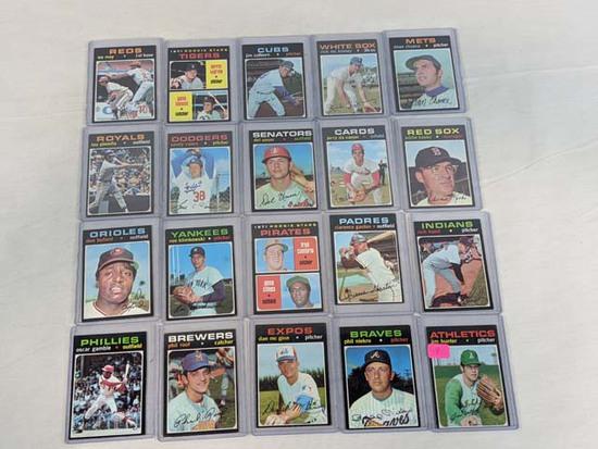 1971 Topps baseball lot of 20 w/Jim Hunter & Phil Niekro