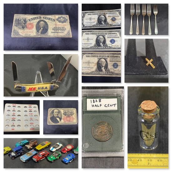 Coins, Sterling, Jewelry, Red Line Hot Wheels