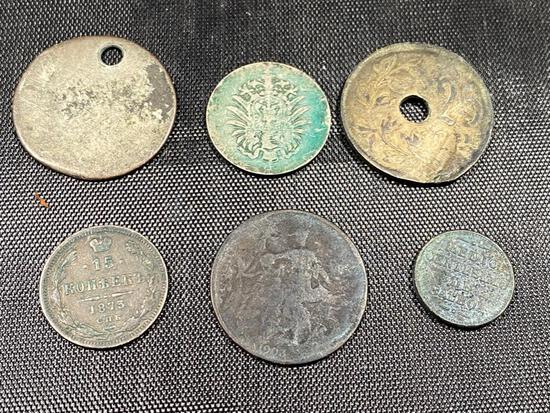 5- Pre WW2 Foreign Coins, See below for full list