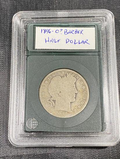 1896-0? Barber Half Dollar in snap case