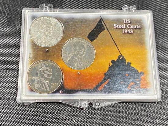 1943 PDS US Steel Cent set