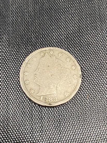 1883 WITH CENTS Liberty Nickel