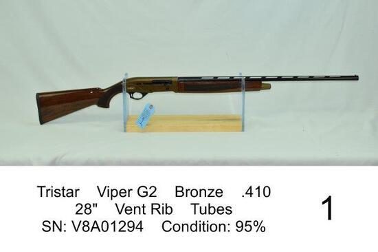 "Tristar    Viper G2    Bronze    .410    28""    Vent Rib    Tubes    SN: V8A01294    Condition: 95%"