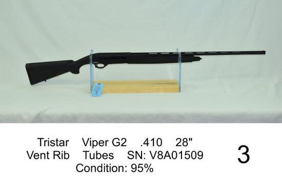 "Tristar    Viper G2    .410    28""    Vent Rib    Tubes    SN: V8A01509    Condition: 95%"