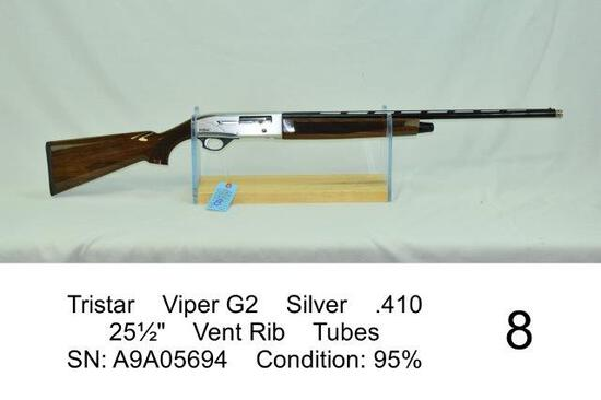 "Tristar    Viper G2    Silver    .410    25½""    Vent Rib    Tubes    SN: A9A05694    Condition: 95%"