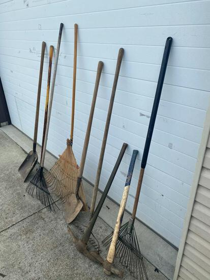 Large selection of long handled tools