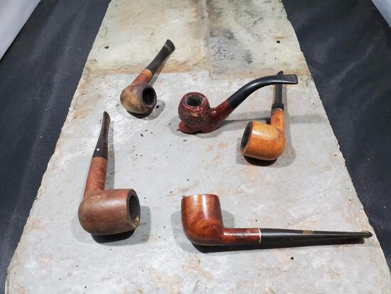 5 pipes, Wood Century Old Briar Italy Rossi Fratelli Rossi, Wood shoe century old Briar made in