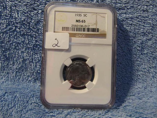 1935 BUFFALO NICKEL NGC MS65