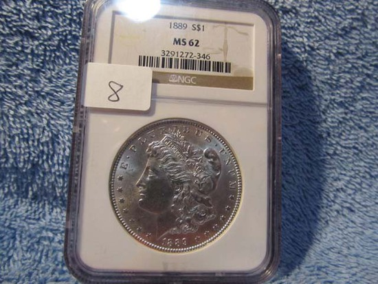 1889 MORGAN DOLLAR NGC MS62