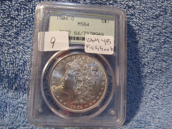 1904O MORGAN DOLLAR PCGS MS64 (VAM-4B-FISHHOOK)