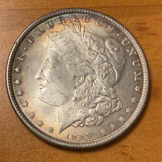 1889 Morgan Silver Dollar, Look at the detail on this coin, some toning