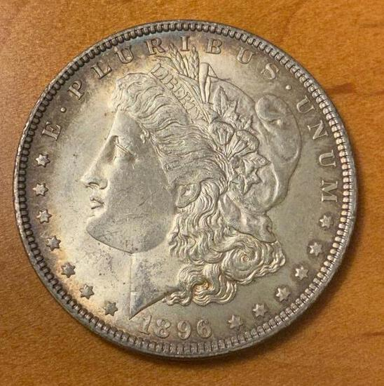 1896 Morgan Silver Dollar, some toning