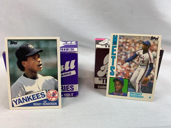 1984 & 1985 Topps traded factory baseball sets