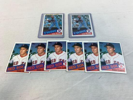 Roger Clemens & Kirby Puckett, 1985 Topps Rookie card lot