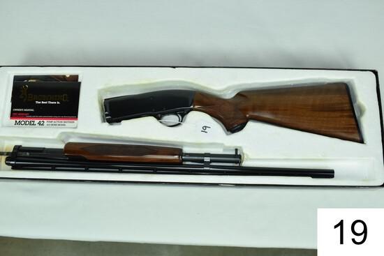 "Browning    Mod 42    .410    26"" Vent Rib    Full    SN: 01260NZ882    Condition: Like NIB"