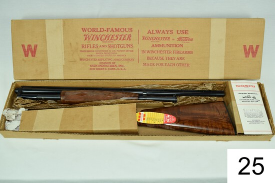 """Winchester    Mod 42 Special Deluxe    .410    26""""    Vent Rib    Skeet    SN: 135744    Mfg. 1958"""
