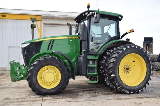 13 JD 7230R tractor