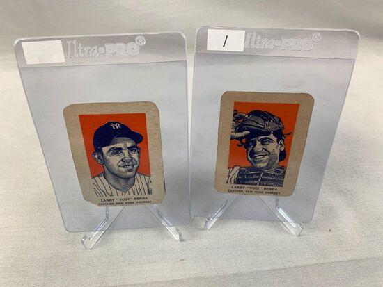 (2) 1950's Wheaties Yogi Berra BB Cards