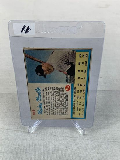 """1962 Post Cereal """"AD"""" Mickey Mantle"""