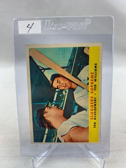 1958 Topps Ted Williams & Ted Kluszewski