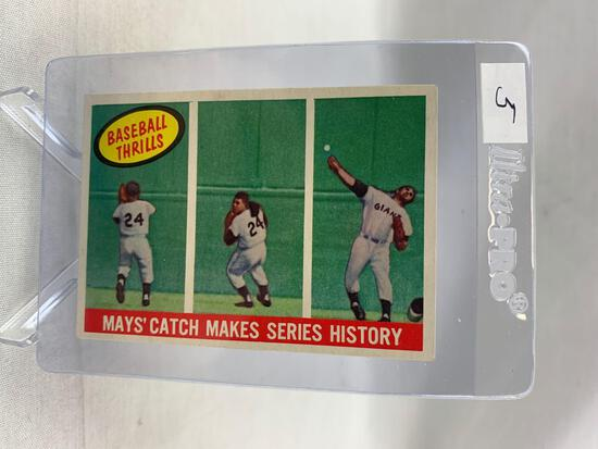 """1959 Topps """"Mays Catch"""" Makes Series History"""