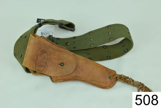Holster    Rock Island Arsenal    1916    T.C.C    WWI Era Holster    For Colt 1911    Condition: Fa