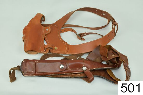 Lot of 2 Holsters    A: Bianchi    X2100    Phantom    B: Classic    Old West    For Sm. 1911 Type