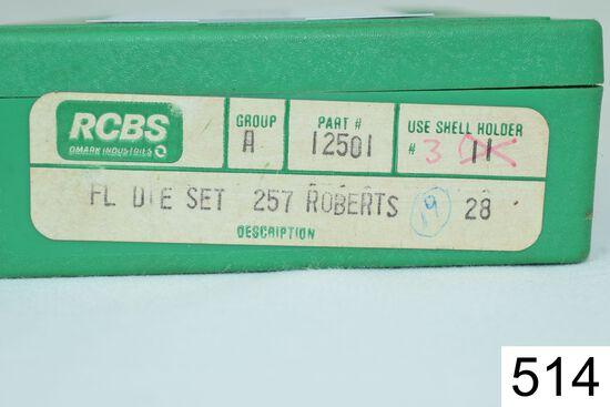 RCBS    2 Die Set    .257 Roberts    Condition: Excellent