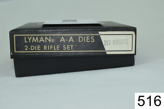Lyman    All American    2 Die Set    .257 Roberts    Condition: Excellent