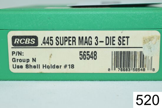 RCBS    3 Die Set    .445 Super Mag    Condition: Excellent