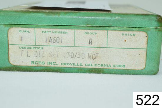 RCBS    2 Die Set    .30-30 WCF    W/Shellholder    Condition: Very Good