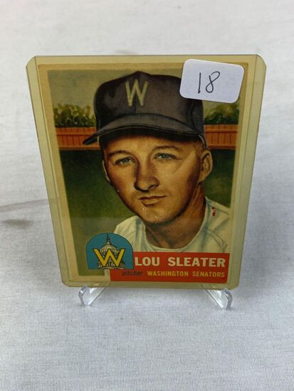 1953 Topps Lou Sleater #224 EX+ Tough High Number