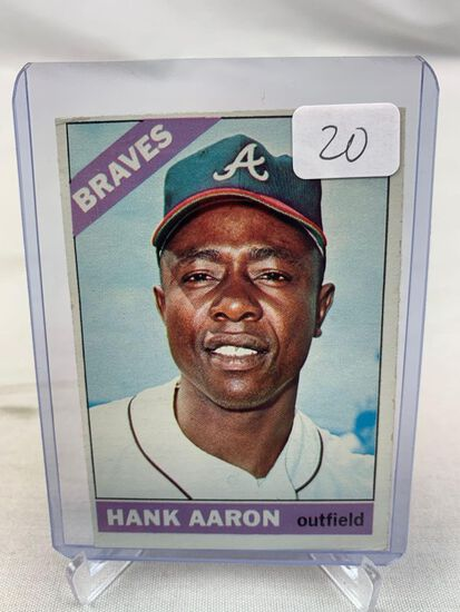 1966 Topps Hank Aaron #500 VG-EX++ Left Top Corner Holds It Back - Faces Up Nice