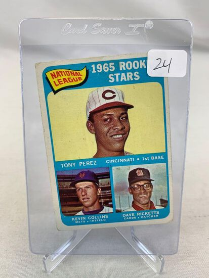 1965 Topps Tony Perez #581 VG-EX Rookie HOF High Number Short Print - Important Card To the Set