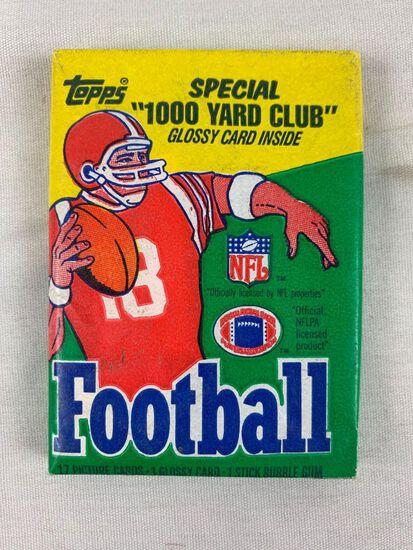 1986 Topps Football Unopened Pack