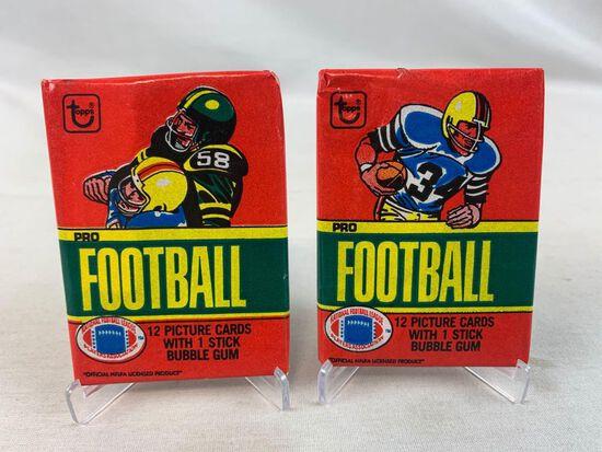 1980 Topps Football Unopened Packs